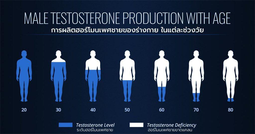 ฮอร์โมนเพศชาย ลดลงในแต่ละช่วงวัย